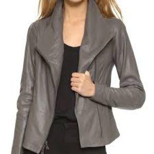 Vince scuba leather jacket - M